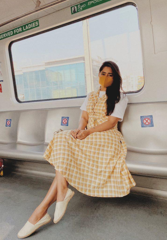 A Girl in the metro
